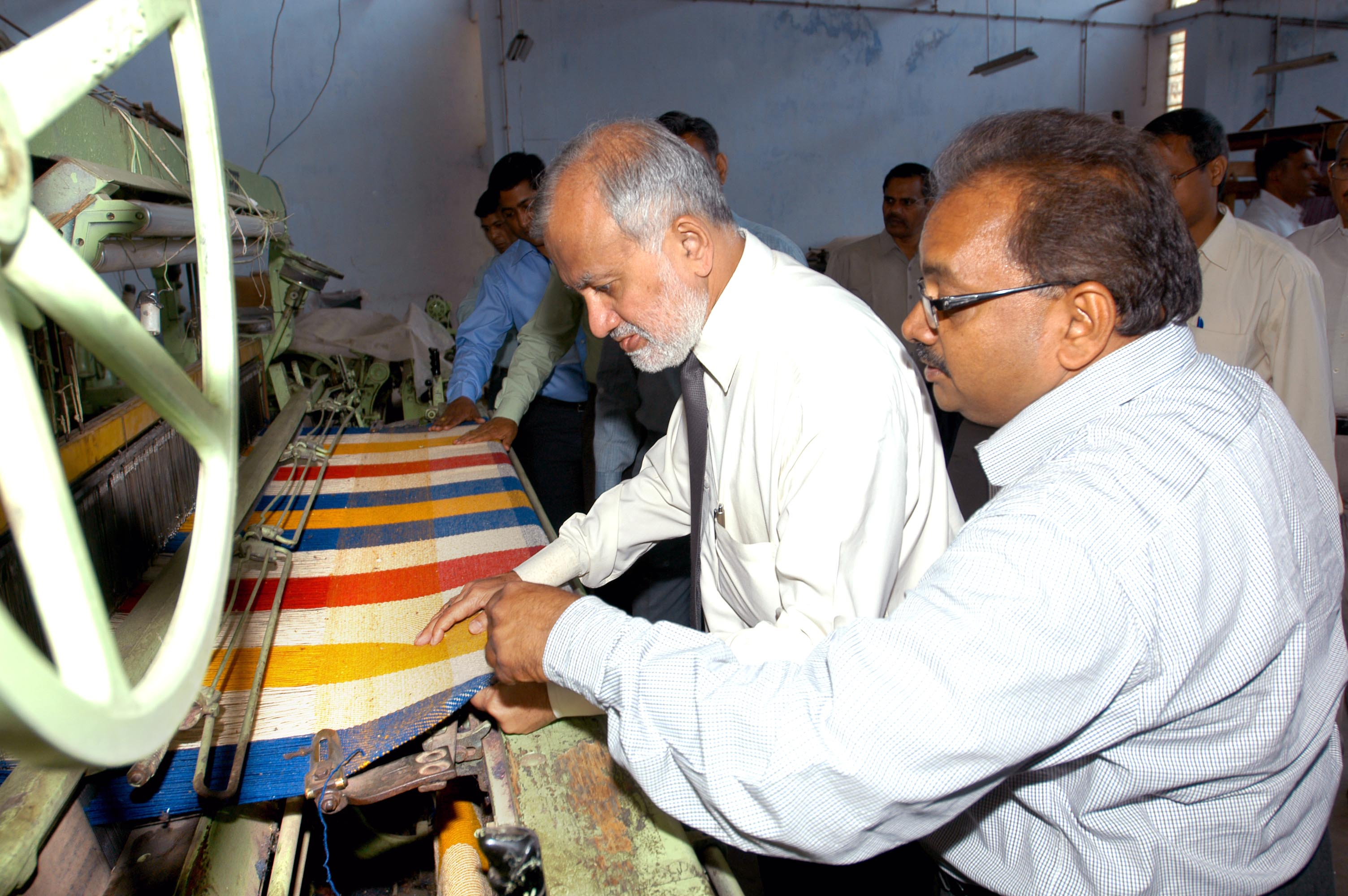 Visit to Wool Processing Plant