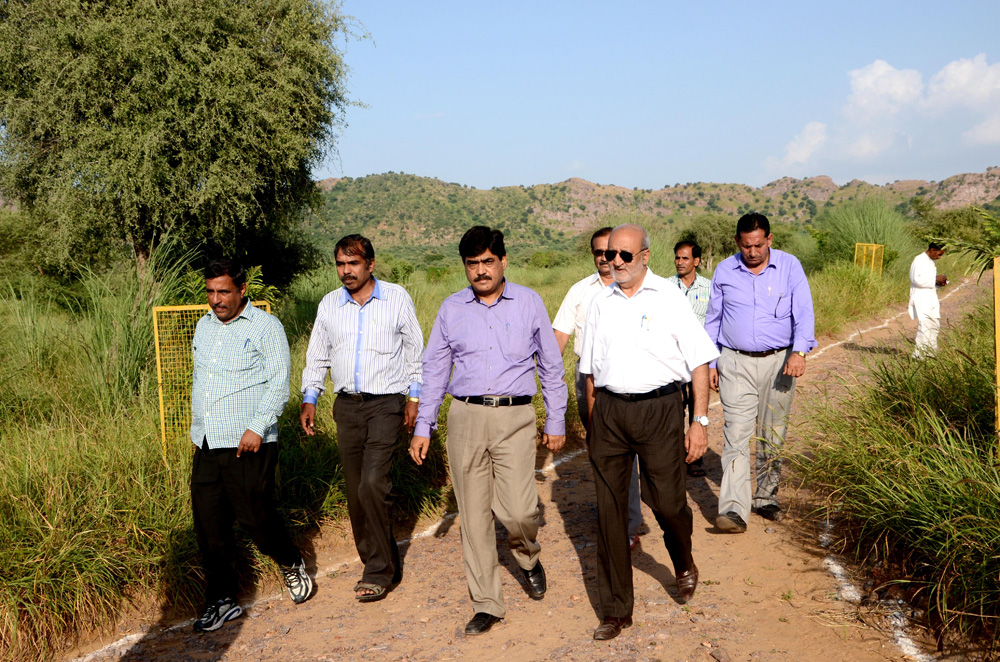 Visit to watershed area